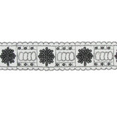 Black & Silver Sequin Trim - 2""